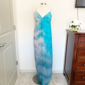 Gypsy 05 Hollywood Blue Grey Maxi Tie Dye Medium